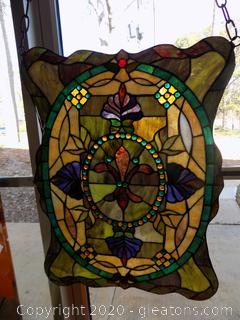 Beautiful Hanging Handmade Stained Glass Panel