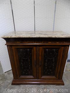 French Style Buffet with Faux Marble Top