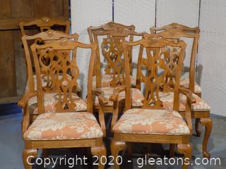 8 Sumter Furniture Dining Room Chairs Upholstered Seat