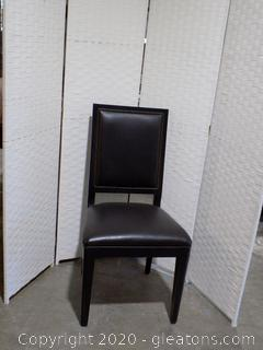 High End Black Leather Dining Room Chair D