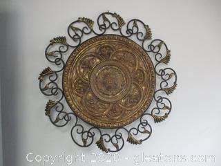 Metal & Resin Medallion Wall Art