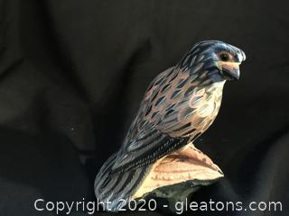 Stunning Hawk carved out of stone. Very heavy
