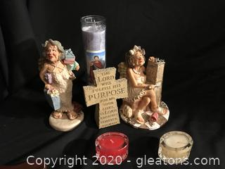 Guardian grannies, cross and candles