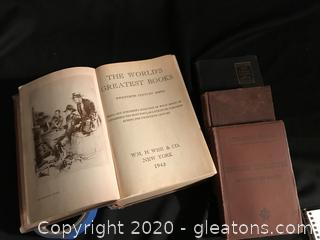 4 vintage books 3 from the 1800s