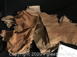 Soft leather scraps