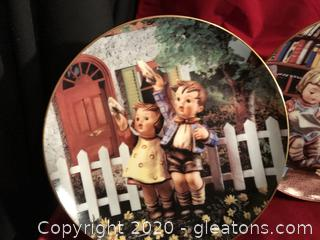 Three Hummel plates by Danbury mint