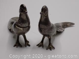 Silver Birds Salt and Pepper Set