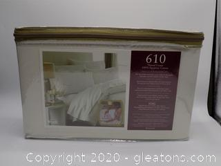 King Size 610 Thread Count 100% Egyptian Cotton Sheets