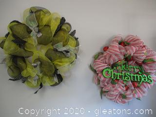 2 Decomesh Wreaths