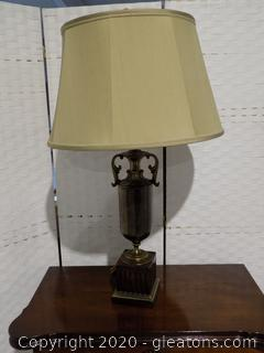 Brass Accents Table Lamp with X-Large Shade