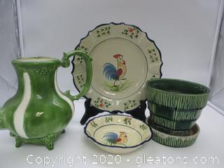 Vintage Porcelain Decor Lot