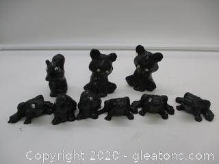 Handcrafted Coal Figurines Lot C
