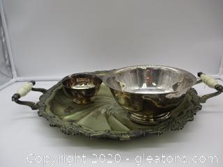 3 Piece Silver Serving Lot