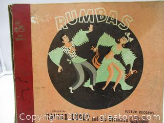 Vintage Rumbas Record by Xavier Cugat