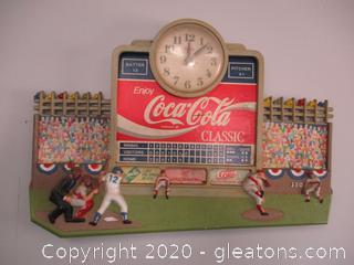 Vintage Coca-Cola Classic Stadium Score Board Clock