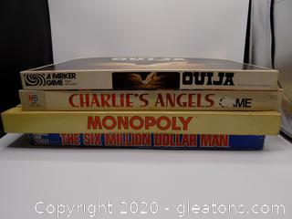 Lot of 4 Vintage Games including Million Dollar Man & Charlie's Angels