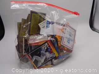 Bag of Collector Baseball Cards
