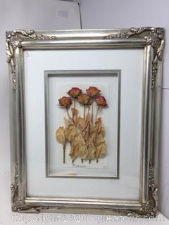 """Framed Dried Roses Art by MED """"Europa"""""""