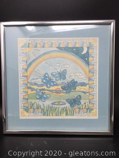 'Butterflies Dancing in the Morning Sun' Framed Art - Signed by Artist