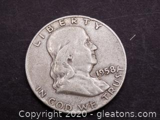 1958 Franklin Half Dollar