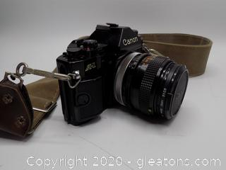 Vintage A-1 Canon with Carry Strap