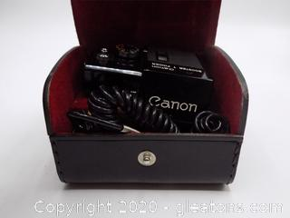 Vintage Canon Boost +  Finder with Car Charger and Carry Case