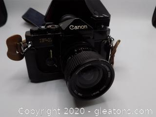 Vintage Canon F-1 with Leather Case and Carry Strap