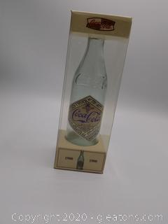 Reproduction of the 1900's Coca-Cola Bottle with Paper Label