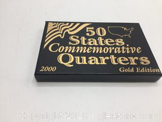 50 States Commemorative Quarters (Gold Plated 2000 Edition)