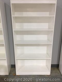 White Wooden 4 Shelf Bookcase B
