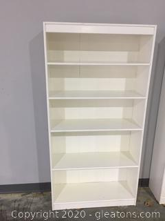 White Wooden 4 Shelf Bookcase C