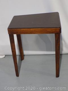 Thomas O'Brien Angled Side Table with Leather Top