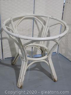 White Rattan Table Base