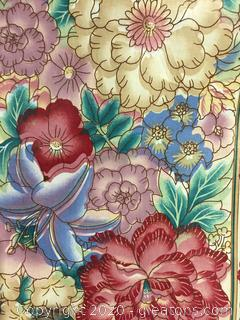 Floral Fabric on Bolt