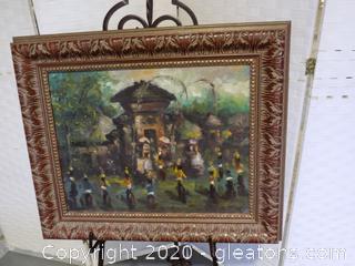 Ubud, Bali Temple Original Acrylic Painting