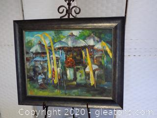 Impressionist Oil Original Signed Ubud,Bali