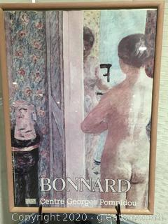 Framed Bonnard Centre George Pompidou Print