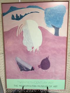 Framed Art Print - Modern Chickens