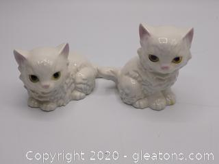 "White Porcelain Cat by ""The Lovables"" by Shafford"