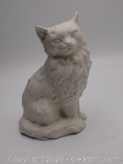 Vintage Goebel W Germany White Matte Porcelain Persian Cat