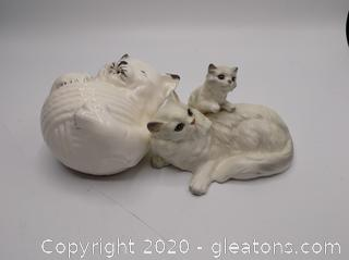 Vintage Lot of Beautiful Porcelain Cats