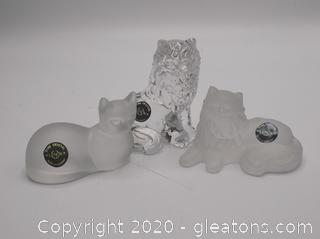 Fine Crystal Lenox Fancy Cats Lot