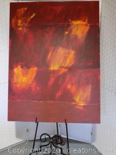 "Contemporary Art ""California Wild Fires"" by Local Artist Donna Loeffler"