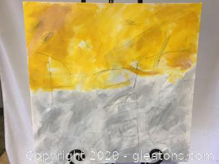Original Contemporary Art Piece by Local Artist Donna Loeffler E