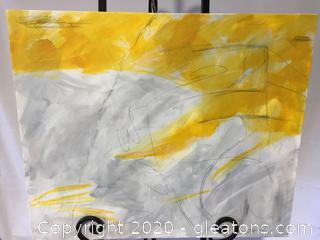 Original Contemporary Art Piece by Local Artist Donna Loeffler Lot D