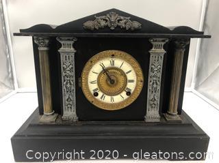 Vintage Metal Mantel Clock