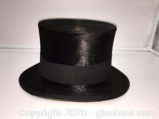 1890's Antique Beaver Top Hat Made by Dunlop & Co