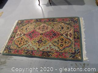 100% Wool Pile Made in India Oriental Rug