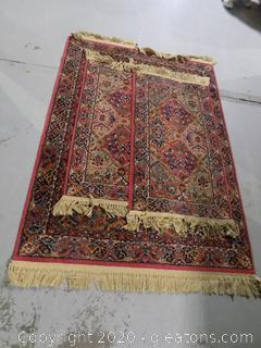 Set of 3 Hand Knotted Area Rugs