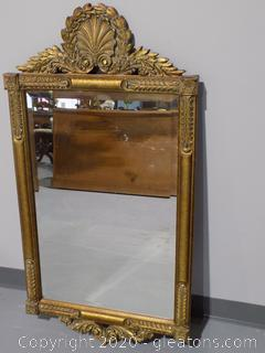 High End Gold Framed Wall Mirror